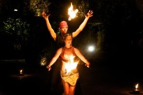 Modern Cirque Fire Dance Merkabah Fire Productions