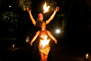 Modern Cirque Fire Dance Merkabah Fire Productions